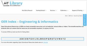AIT OER Index – Engineering & Informatics
