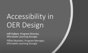 Accessibility in OER Design