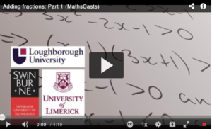 Adding fractions: Part 1 (MathsCasts)