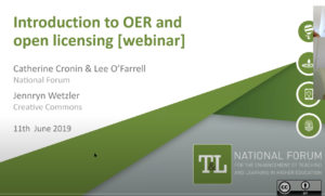 An Introduction to Open Educational Resources (OER) & Open Licensing