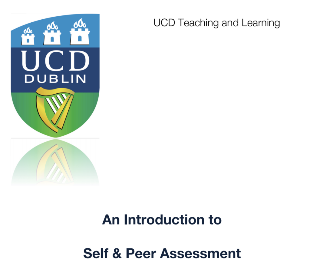 An Introduction to Self and Peer Assessment