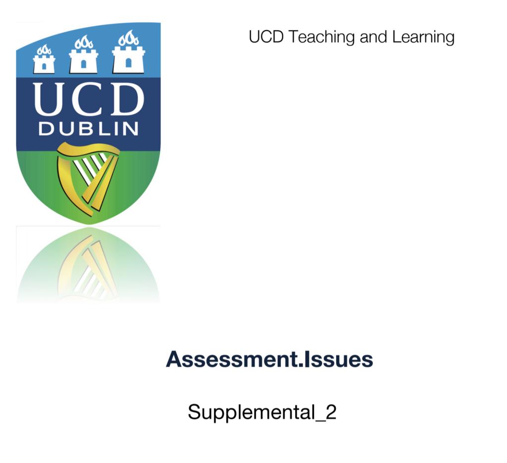 Assessment issues: Supplemental 2