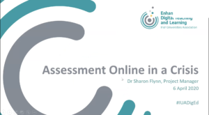 Assessment online in a crisis