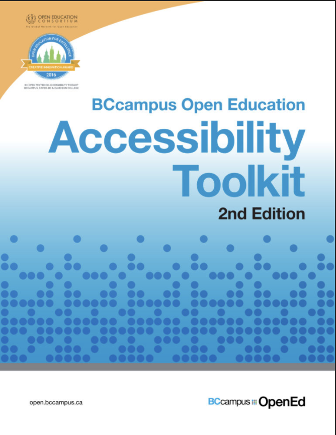 BCcampus Open Education Accessibility Toolkit
