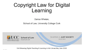 Copyright law and open licenses for digital learning