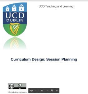 Curriculum Design: Session Planning