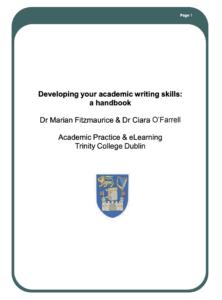 Developing your academic writing skills: a handbook