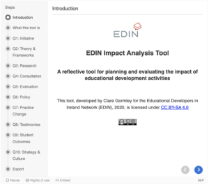 EDIN Impact Analysis Tool