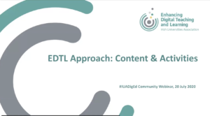 EDTL Approach: Consider Content & Activities