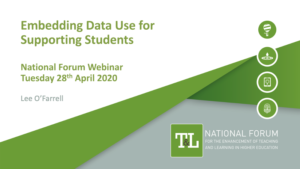 Embedding Data Use for Supporting Students