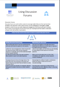 Facilitating Discussion Forums
