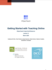 Getting Started with Teaching Online (v3)