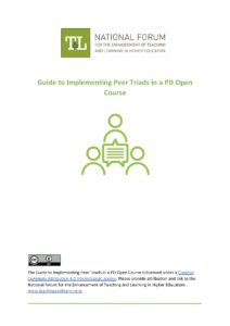 Guide to Implementing Peer Triads in a PD Open Course (for facilitators)