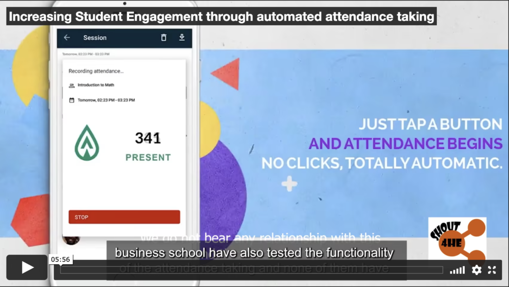 Increasing Student Engagement through automated attendance taking