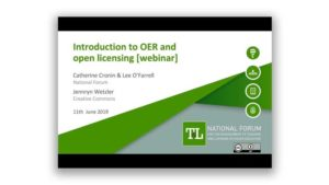 Introduction to Open Educational Resources (OER) & Open Licensing