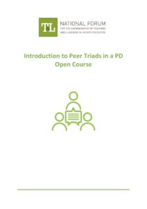 Introduction to Peer Triads in a PD Open Course