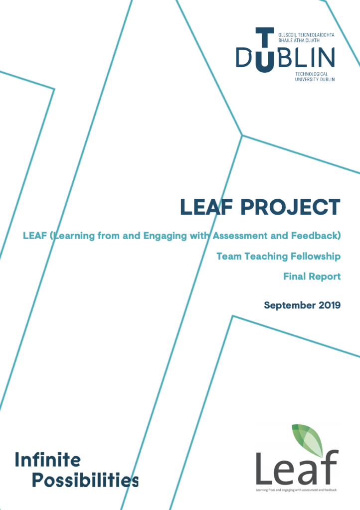 LEAF (Learning from and Engaging with Assessment and Feedback) Final project report