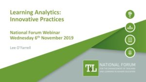 Learning Analytics: Innovative Practices