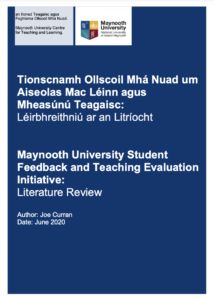 Literature Review: Maynooth University Student Feedback and Teaching Evaluation Initiative: Literature Review