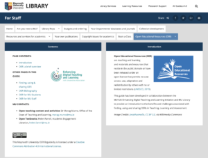 Maynooth University Library OER libguide