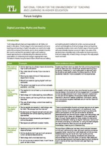 Digital Learning: Myths and Reality