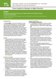 Strategic and Leadership Perspectives on Digital Capacity in Irish Higher Education: Insight for Managers