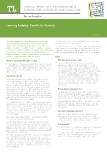 Learning Analytics Benefits for Students