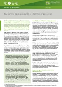 Supporting Open Education in Irish Higher Education