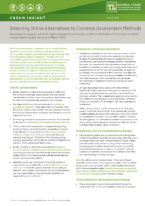 Selecting Online Alternatives to Common Assessment Methods