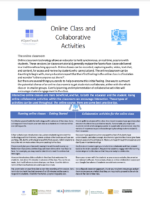 Online Class and Collaborative Activities