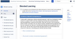 Online resource to support staff in planning