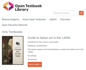 Open Textbook Library - Arts