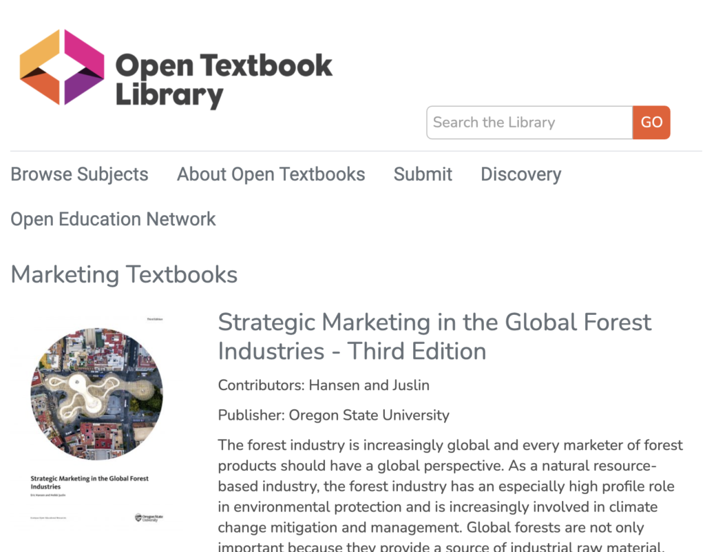 Open Textbook Library - Marketing