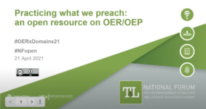 Practicing what we preach': an open course on OER/OEP