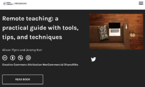 Remote teaching: a practical guide with tools