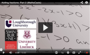 Subtracting fractions: Part 2 (MathsCasts)