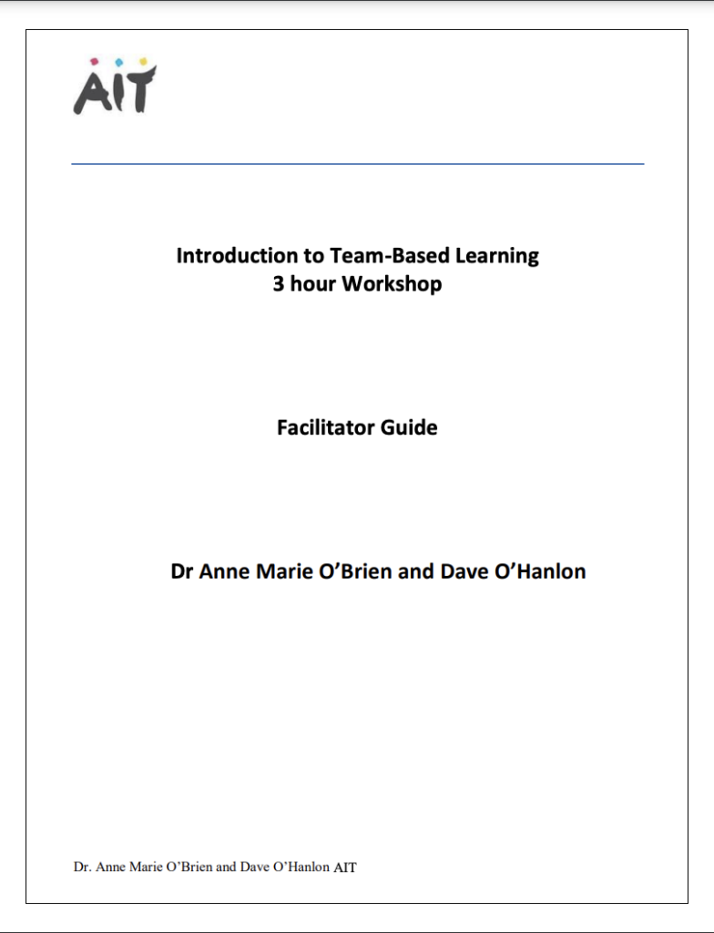 TBL facilitator guide