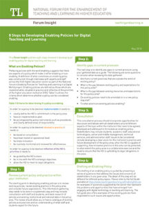 8 Steps to Developing Enabling Policies for Digital Teaching and Learning
