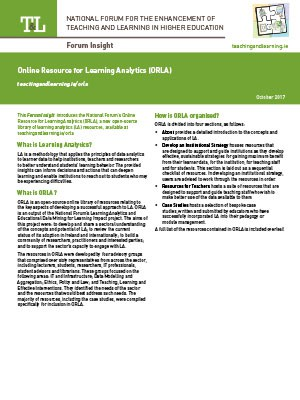 Online Resource for Learning Analytics (ORLA)