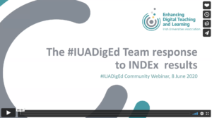 The EDTL project team respond to INDEx results