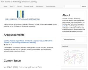 The Irish Journal of Technology Enhanced Learning