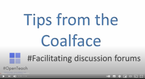 Tips from the coalface: Facilitating discussion forums