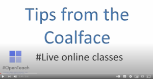 Tips from the coalface: Teaching live online classes