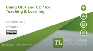 Using OER and OEP for Teaching and Learning