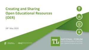 Webinar: Creating and Sharing Open Educational Resources (OER)