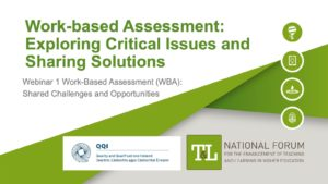 Work-based Assessment (WBA): Exploring Critical Issues and Sharing Solutions